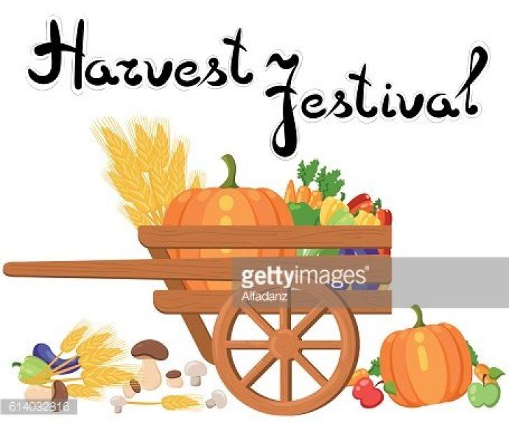 harvest festival clip art words.