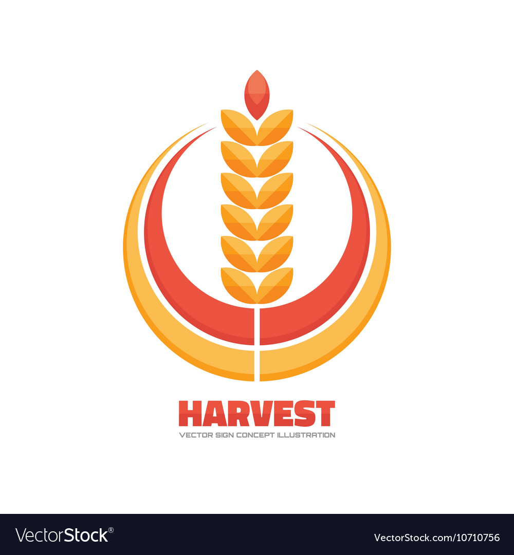 Harvest logo concept sign.