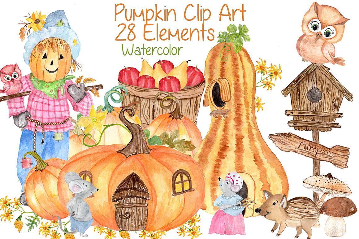 Watercolor pumpkin clipart, Squash Clipart, Thanksgiving clipart,  Invitation clipart,Harvest clipart, Autumn vegetables.