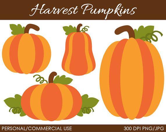 Harvest Pumpkins Clipart Digital Clip Art by MareeTruelove.
