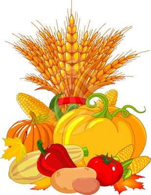 Pumpkin Harvest Time Clipart.