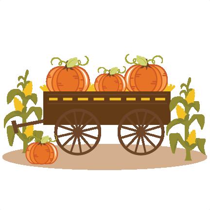 Fall Wagon Clipart.
