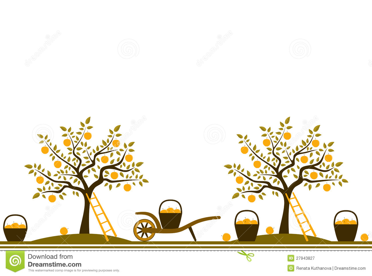 Tree being harvested clipart.