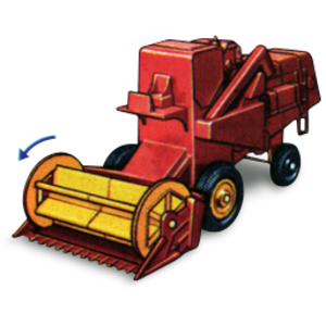 Combine Harvester With Movement Icon.