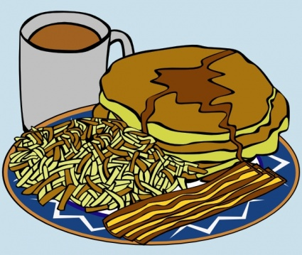 Pancake And Syrup Coffee Bacon Hashbrown clip art clip arts, free.