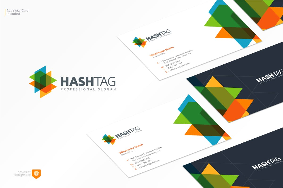 Hashtag Logo Design by designhatti on Envato Elements.