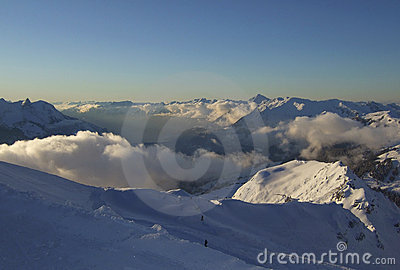 Winter Scenery At Grindelwald Royalty Free Stock Photos.