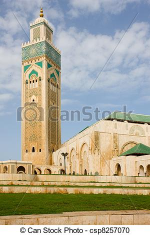 Stock Photography of Casablanca King Hassan II Mosque.