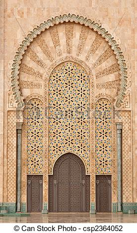 Stock Photo of Detail of Hassan II Mosque in Casablanca Morocco.