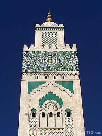 Hassan II Mosque Detail, Casablanca, Morocco Royalty Free Stock.