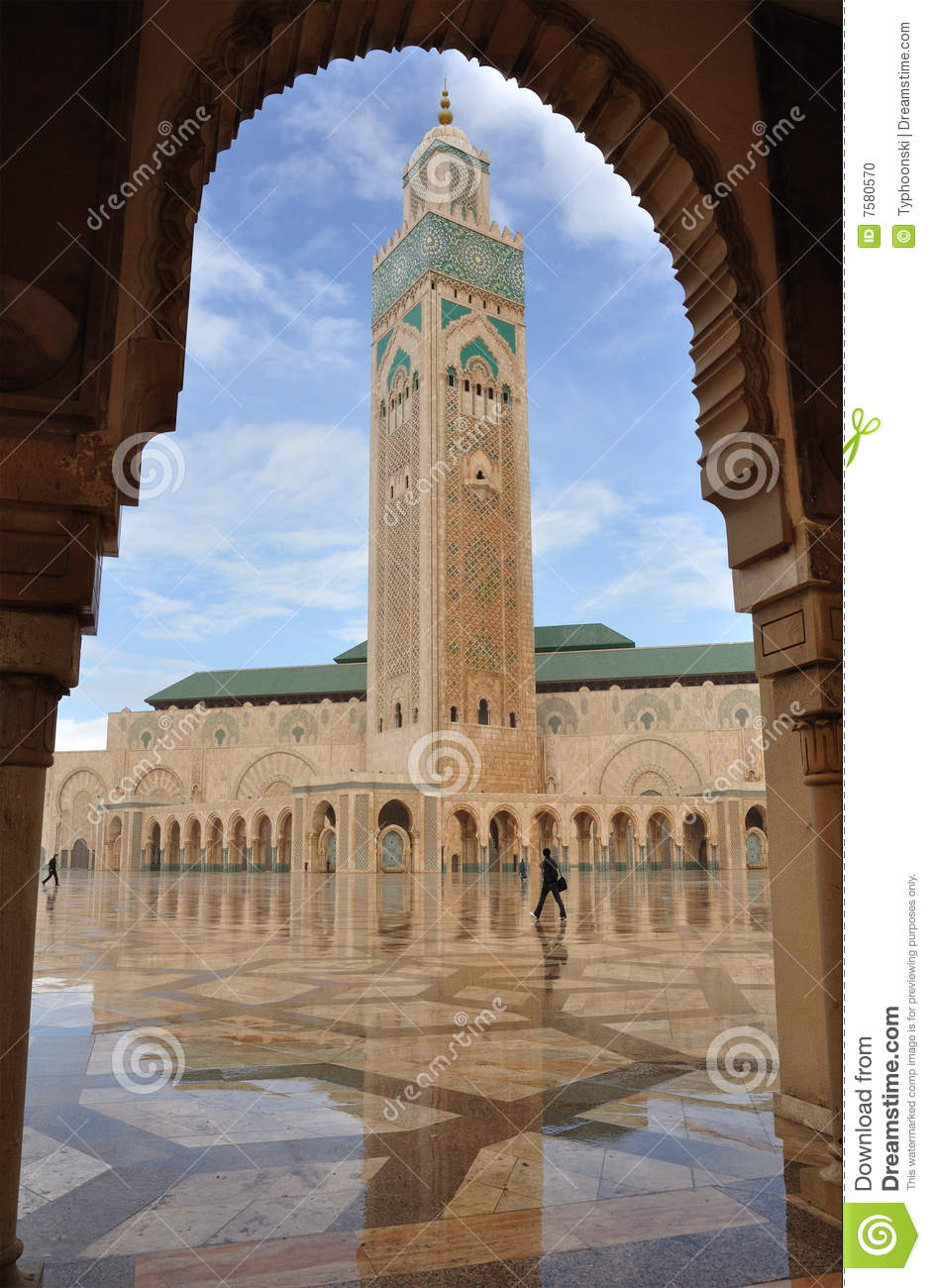 Hassan II Mosque In Casablanca Stock Photo.