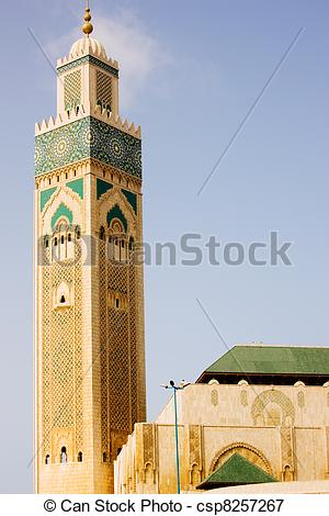 Picture of Casablanca King Hassan II Mosque.