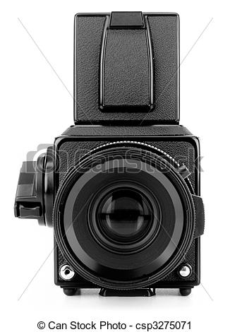 Stock Photography of medium format camera.