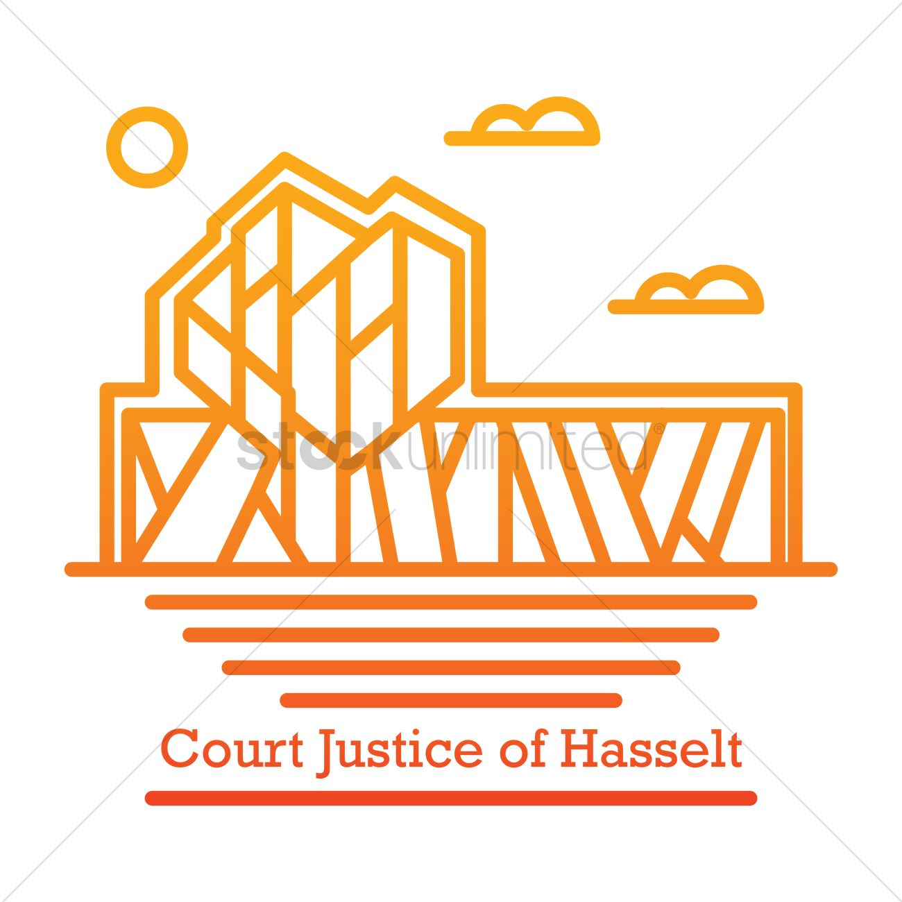 Court justice of hasselt Vector Image.