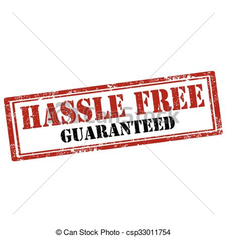 Clipart Vector of Hassle Free.