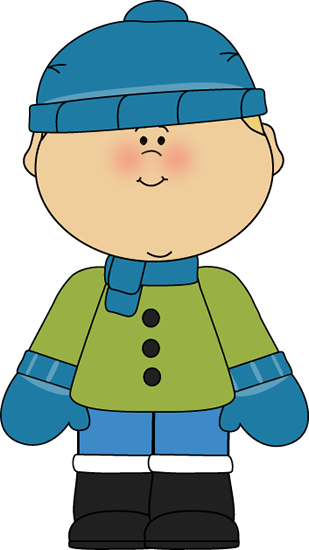 Clipart Illustration Set Blue And Red Winter Mittens Hat.
