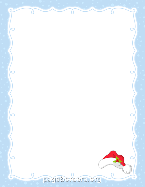 Santa Hat Border: Clip Art, Page Border, and Vector Graphics.