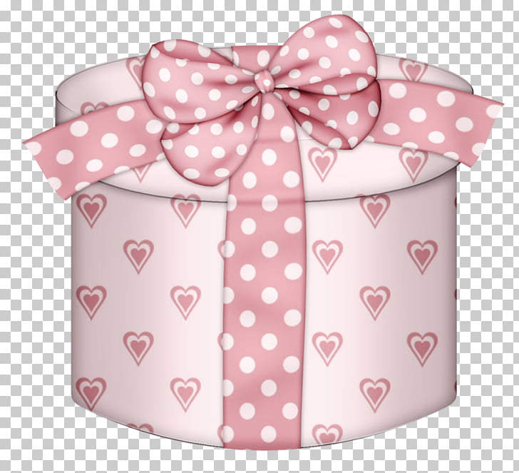 Christmas gift Box , Pink Hearts Round Gift Box , pink heart.