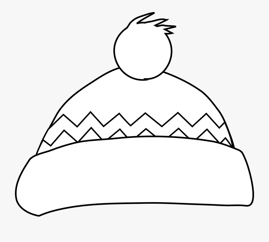 Winter Hat Outline Clipart.