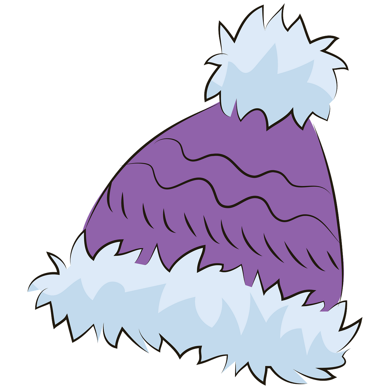 Purple winter hat clipart. Free download..