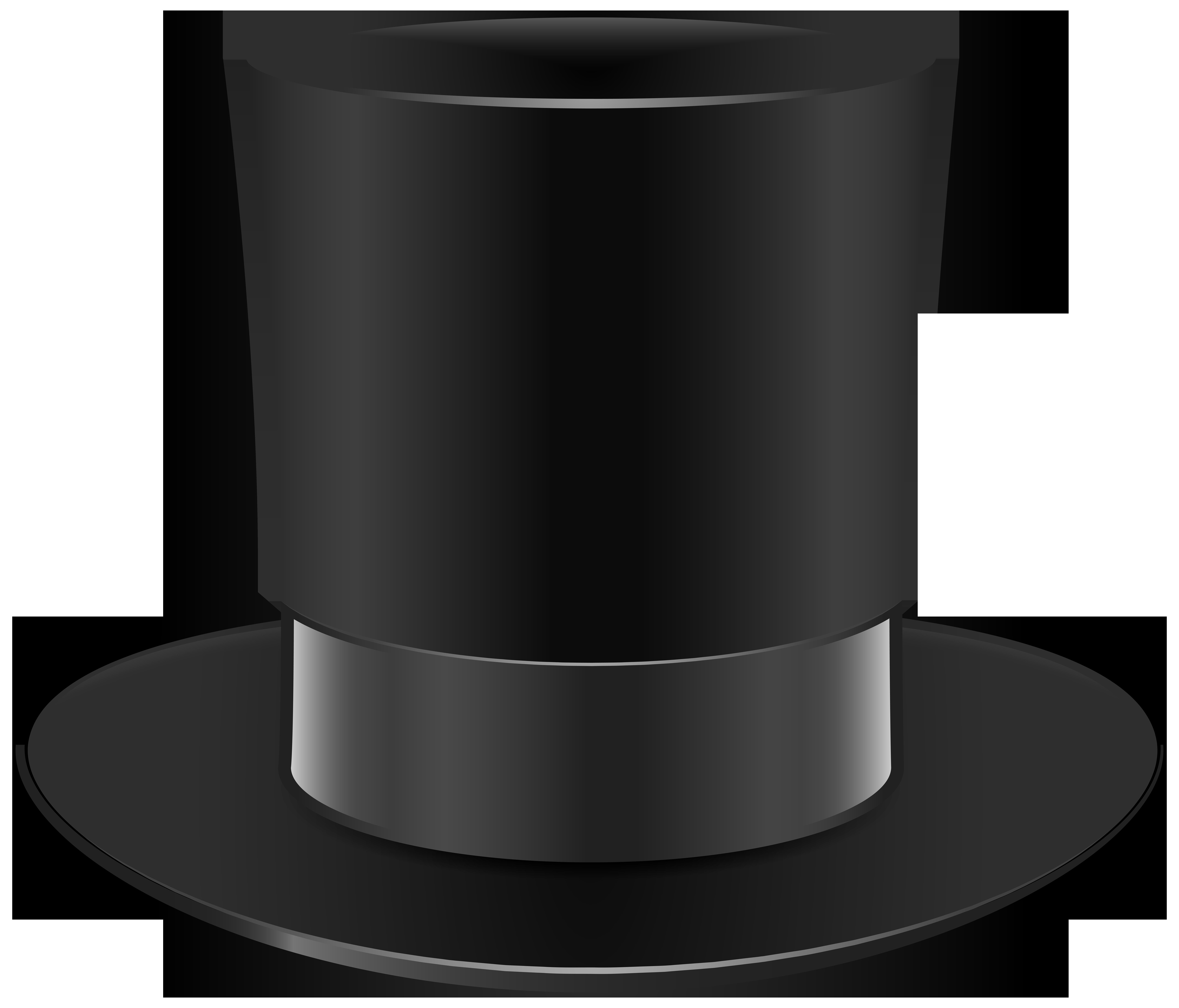 Black Top Hat PNG Clip Art.