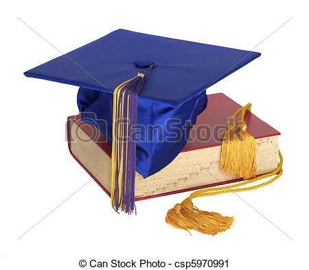 Stock Photography of Graduation Hat and Honor Cord.