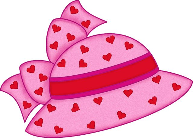 Pink hat with hearts pink hat hats and clip art free.