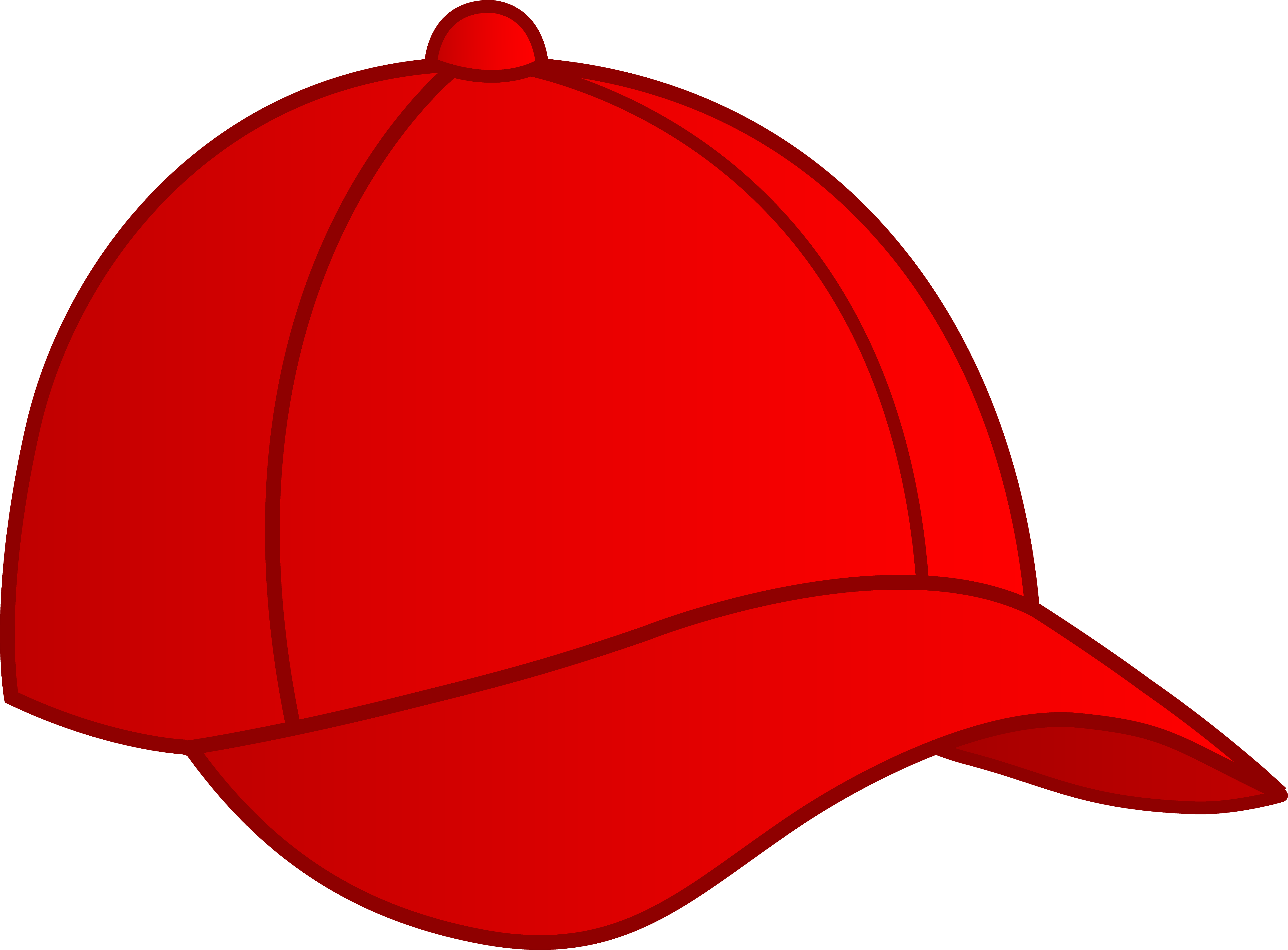 Red Baseball Cap Free clipart free image.