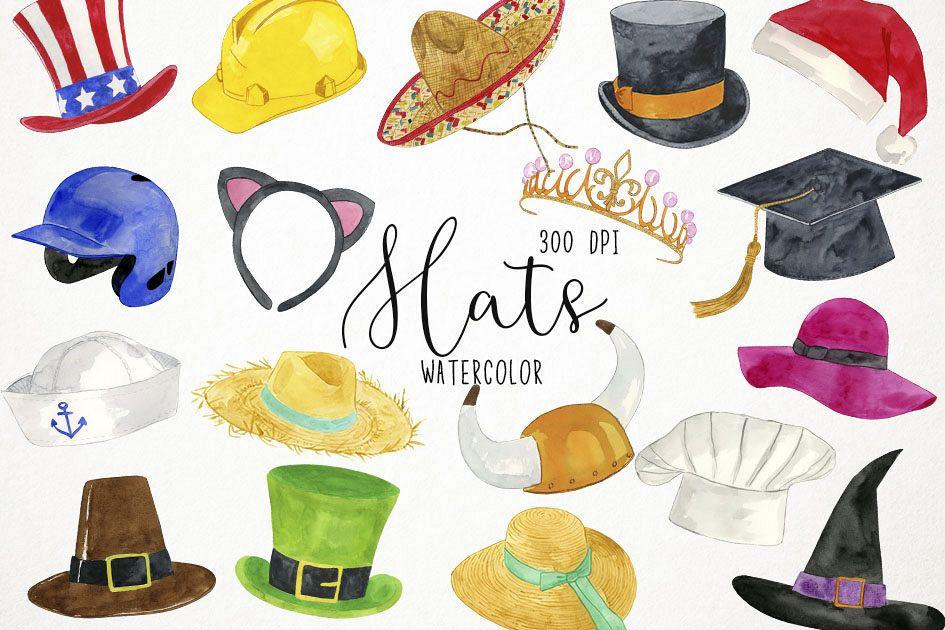 Hats Clipart, Hats Clip Art, Costumes Clipart, Caps Clipart.
