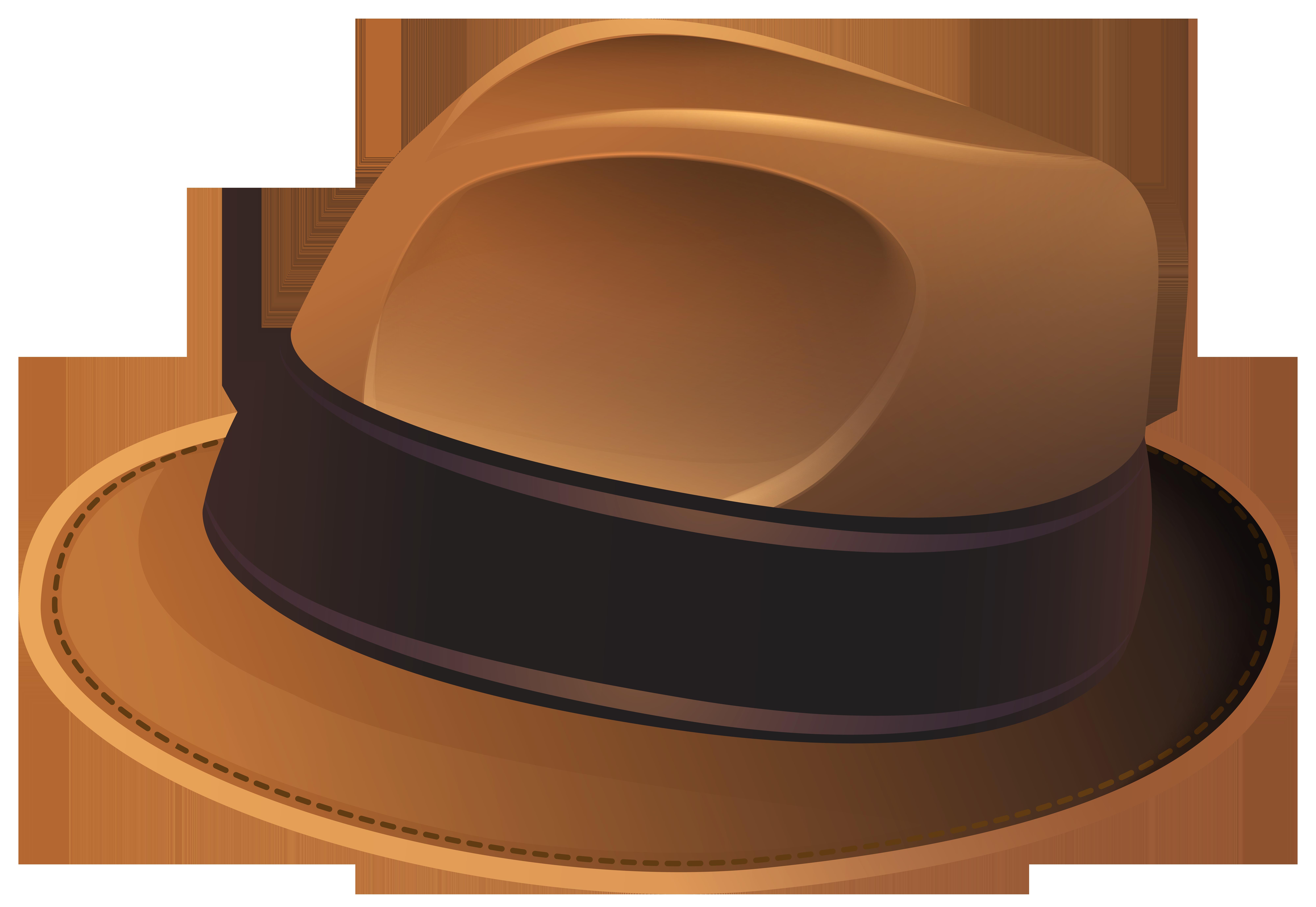 Brown Hat Transparent PNG Clip Art Image.