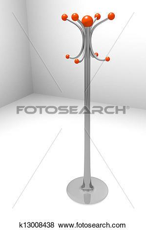 Stock Illustration of hat rack k13008438.