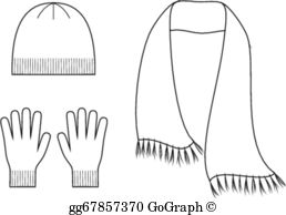Hat Scarf Gloves Clip Art.