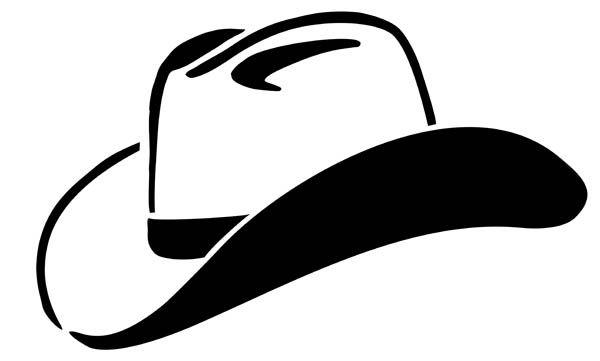cowboy hat silhouette clip art.