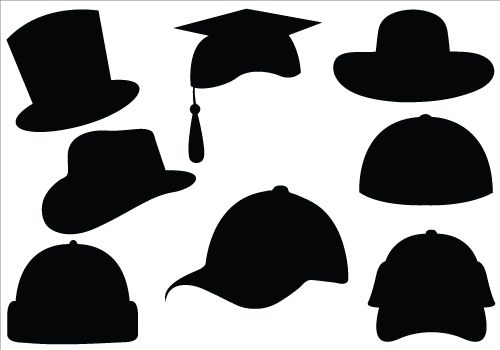 Hat Silhouette Vector Clipart.