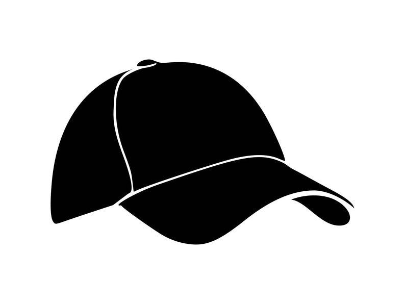 Baseball cap Svg Hat Svg Cap Svg Clipart silhouette decal stencil cut file  engraving image file vector.