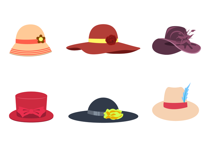 Hat Free Vector Art.