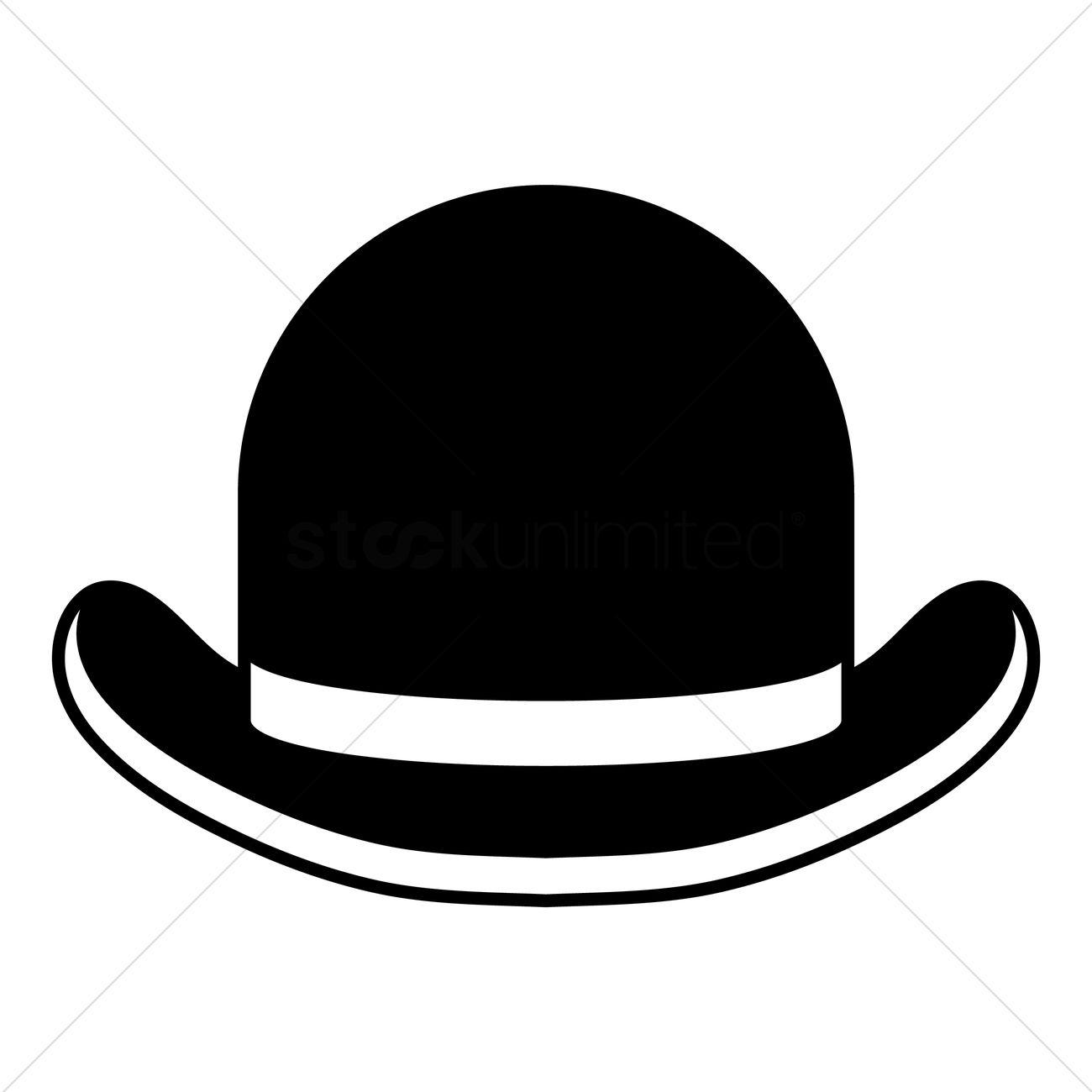 Bowler hat Vector Image.