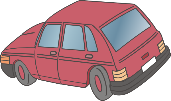 Red Car Hatchback clip art Free Vector / 4Vector.