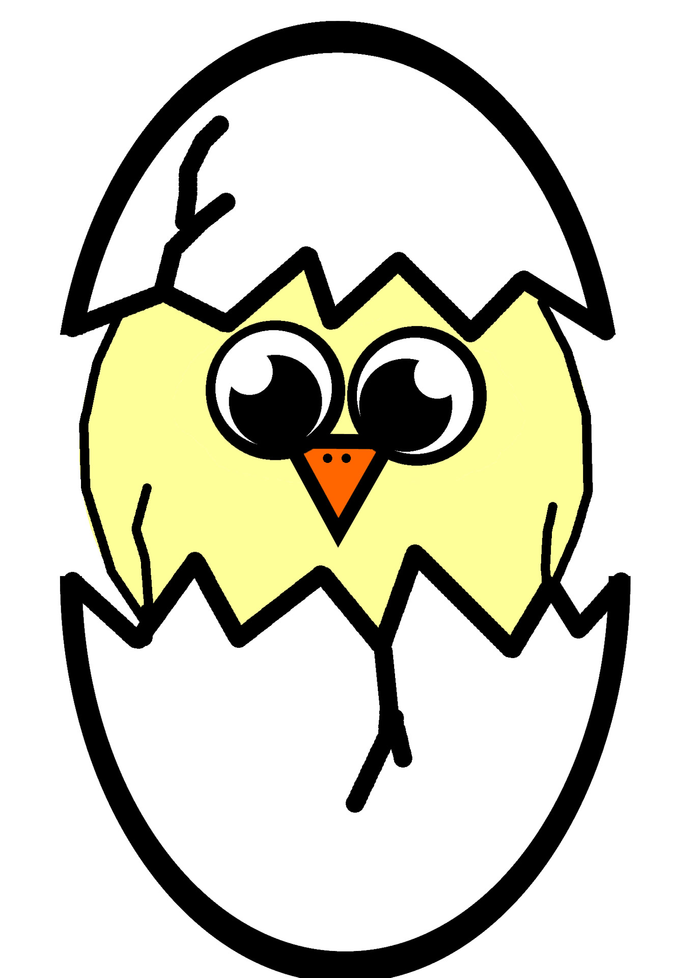 Hatching Chick Illustration Free Stock Photo.