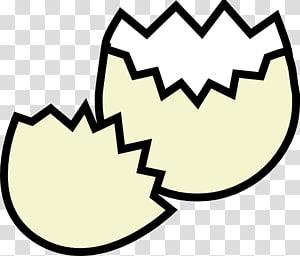 Hatched egg illustration transparent background PNG clipart.
