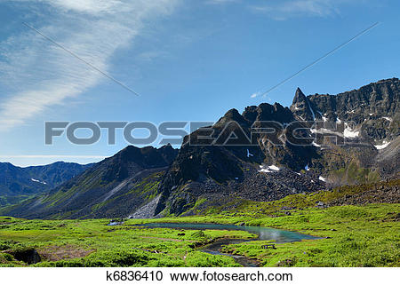Stock Photography of Beaver Dam in Archangel Valley, Hatcher Pass.