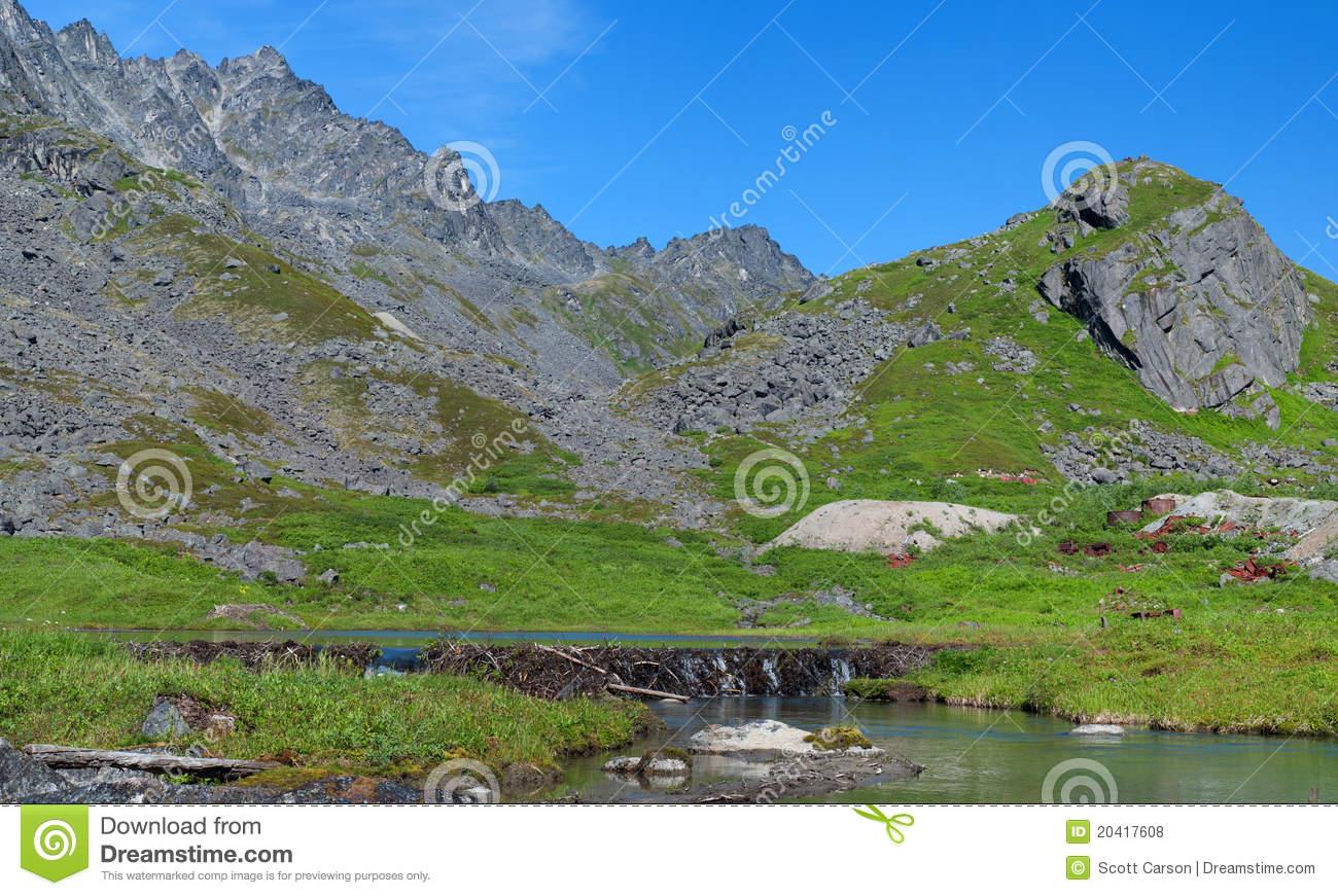 Archangel Valley, Hatcher Pass, Alaska Royalty Free Stock Photos.