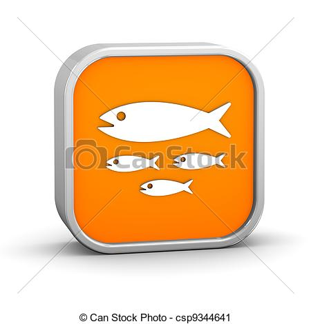 Clipart of Fish hatchery sign on a white background. Part of a.