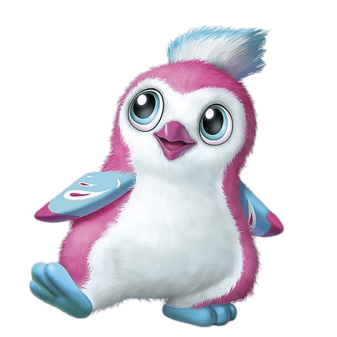 Hatchimals White Penguala transparent PNG.