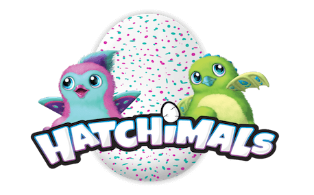 Sized hatchimals logo w characters.
