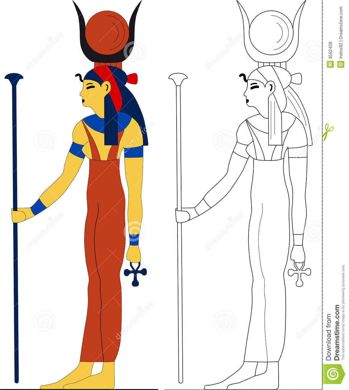 Ancient Egyptian Goddess.