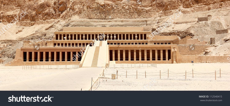 Mortuary Temple Hatshepsut Near Valley Kings Stock Photo 112540415.
