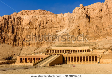 Mortuary Temple Queen Hatshepsut Located Beneath Stock Photo.