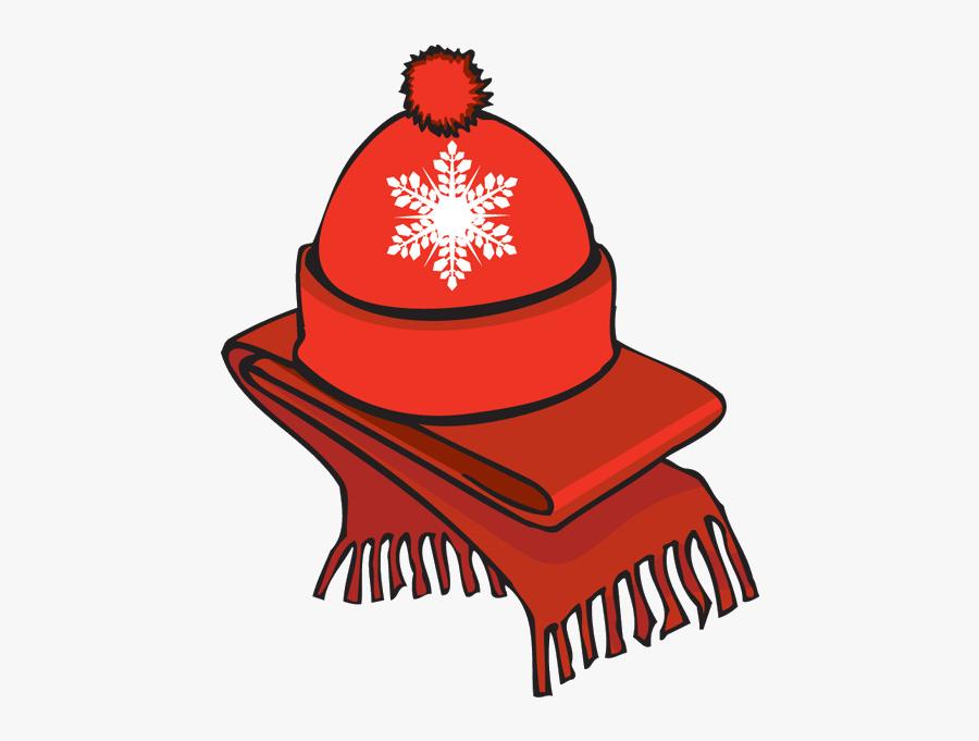 Clip Art Of A Winter Scarf An.