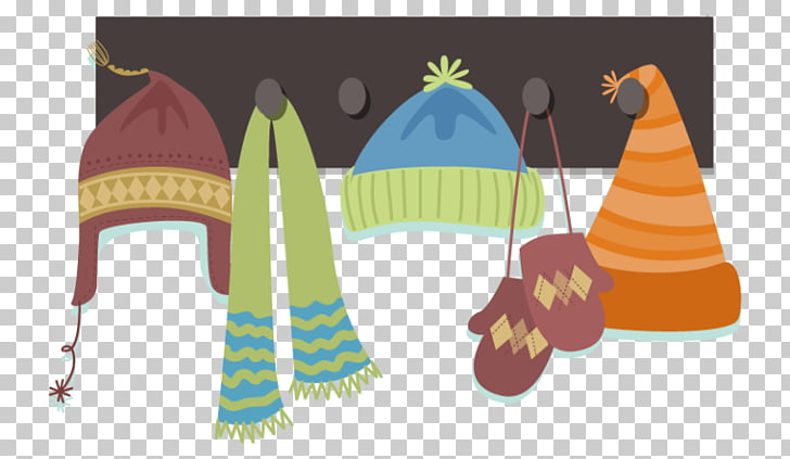 Scarf Hat Glove Feather boa, Hat PNG clipart.